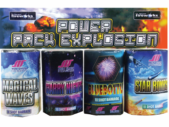 Power Pack Explosion Barrages (Pack of 4)